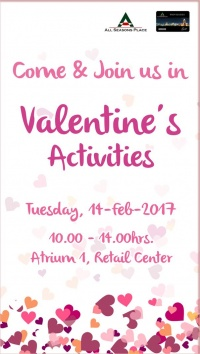 Come & Join us in Valentine's Activities